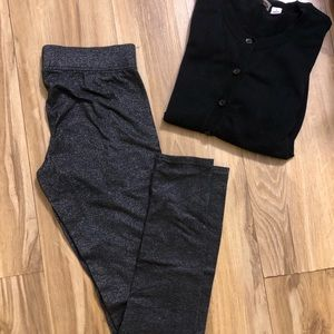 3 for $20 AEO sparkly gray leggings small